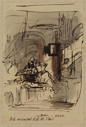 Sir Robert Peel Selecting Pictures
