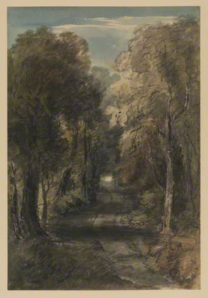 Lane with Trees