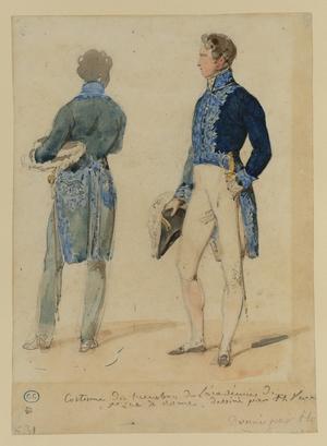 Male Figure in the Uniform of the Academy of Saint Luke, Rome