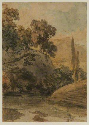 Landscape with Hills and Lake