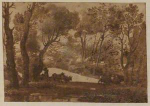 Pastoral Scene in a Clearing