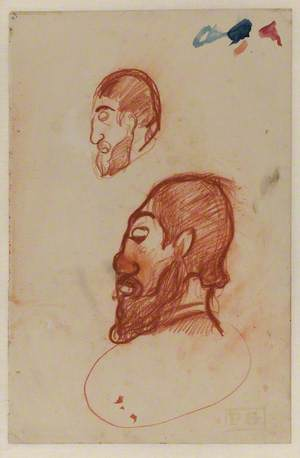 Two Studies of the Head of a Bearded Man