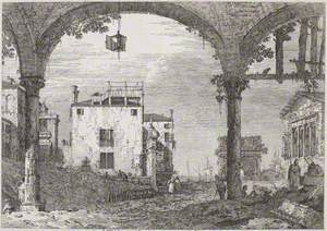 Portico with Lantern