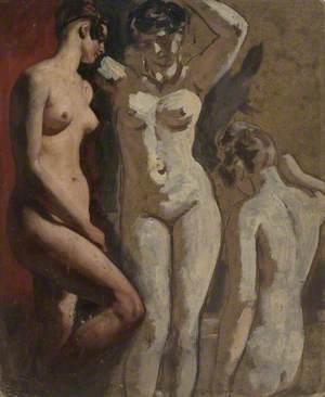 Three Standing Female Nudes