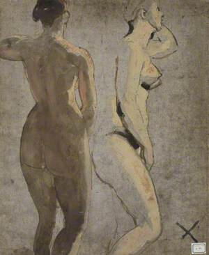 Two Standing Female Nudes