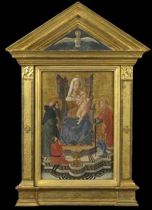 Virgin and Child Enthroned with Saints Anthony Abbot and Julian and a Donor