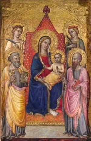 Virgin and Child Enthroned with Saints Peter, Paul, Catherine and Lucy
