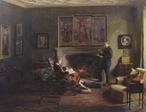 Interior with Viscount and Viscountess Lee of Fareham