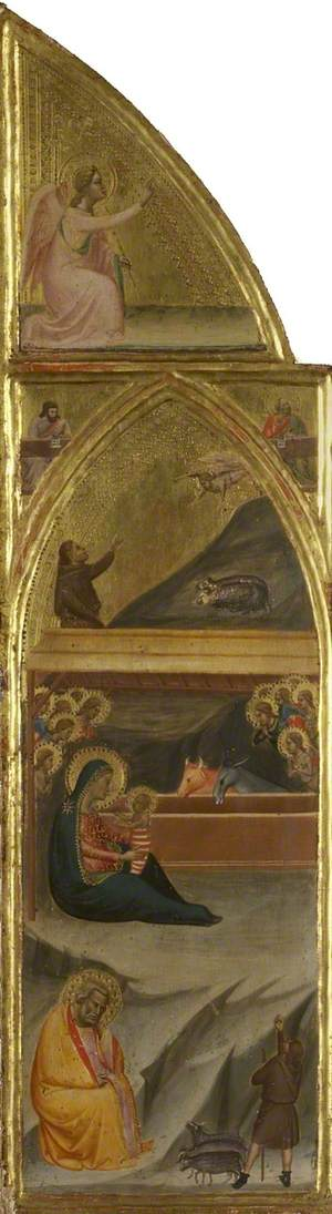 Nativity, and Two Evangelists, and Angel of the Annunciation