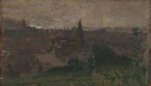 View of Dieppe with Eglise du Pollet