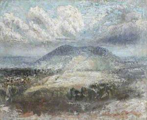 Distant Hill with Clouds