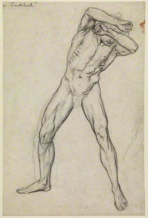 Study of a Male Nude for 'Faithful Until Death'