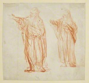Sheet with Two Studies for 'Saint John the Baptist'