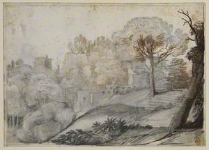 Landscape with Trees and Buildings