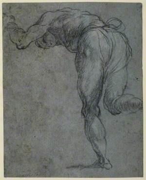 Study of a Male Figure Bending Forward