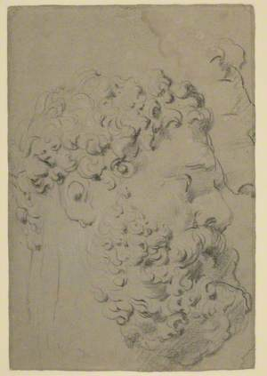 Studies of the Head and Profile of the Farnese Hercules Seen from a Lower Viewpoint