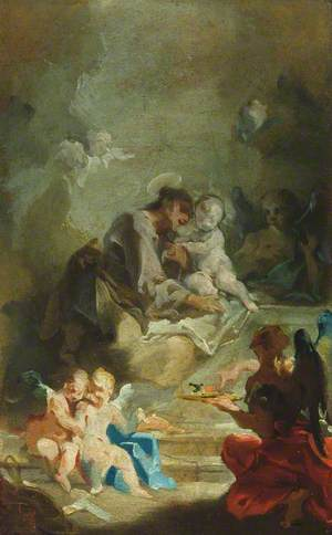 Saint Anthony of Padua Adoring the Christ Child