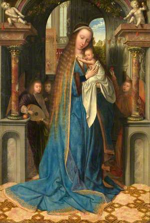 The Virgin and Child with Angels