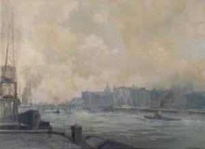 View from Mark Brown's Wharf, London