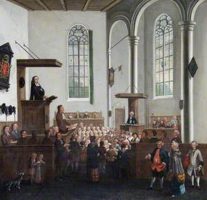 John Wesley (1703–1791), Preaching in Old Cripplegate Church, London