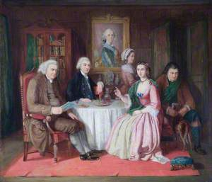 Johnson (1709–1784), and Boswell (1740–1795), with Flora MacDonald (1722–1790)