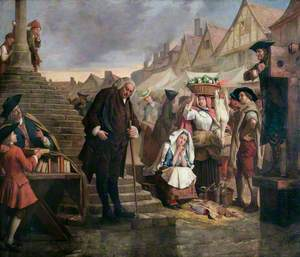 Johnson (1709–1784), Doing Penance in the Market Place of Uttoxeter, Staffordshire