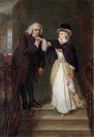 Dr Johnson (1709–1784), and Mrs Siddons (1755–1831), in Bolt Court