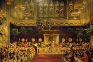 The Coronation Luncheon to King George V and Queen Mary in the Guildhall, London, 29 June 1911
