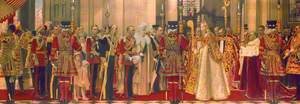 Reception of George V and Queen Mary at the West Door of St Paul's Cathedral, London, Jubilee Day, 6 May 1935