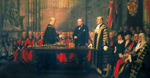 The Presentation of the Freedom of the City to Winston Churchill in the Guildhall, London, 30 June 1943