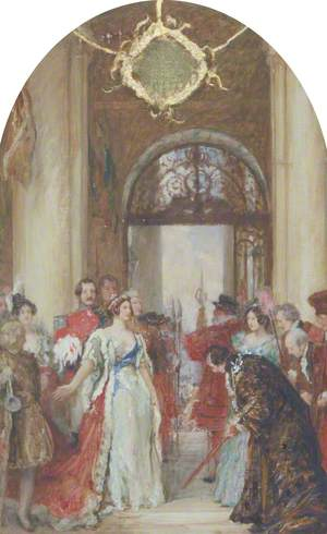 Study for 'The Opening of the Royal Exchange by Queen Victoria, 1844'