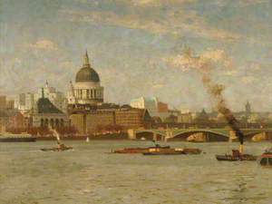 St Paul's and Blackfriars Bridge, London