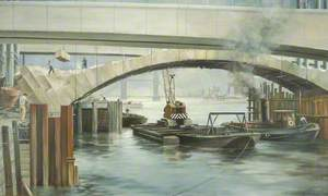 Old London Bridge Makes Way for the New