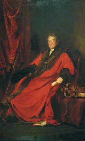Matthias Prime Lucas, Lord Mayor of London (1827) and President of St Batholomew's Hospital