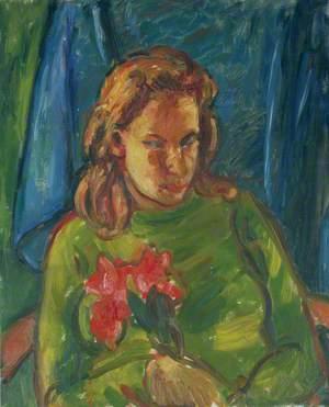 Mary Keene (1921–1981), Holding Red Flowers II