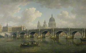 Blackfriars Bridge and St Paul's, London