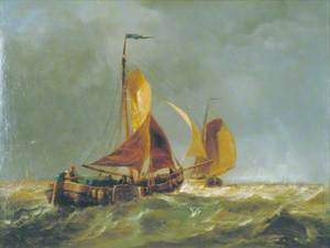 Dutch Schuyts Beating out of the Scheldt