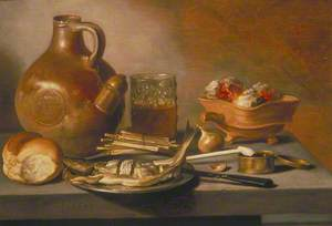 Still Life with Jug, Herring and Smoking Requisites
