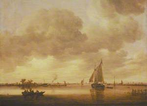 An Estuary with Boats