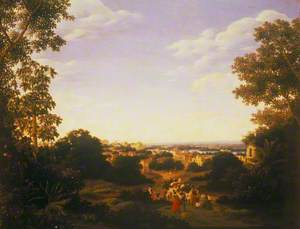 Brazilian Landscape with Native Figures