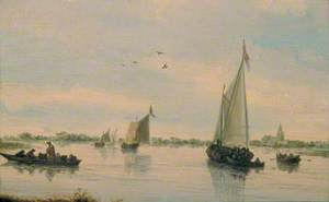 Sailing Boats on a River