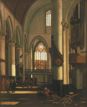 Interior of an Imaginary Protestant Gothic Church
