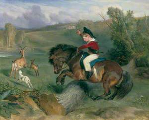 The First Leap, Lord Alexander Russell on His Pony 'Emerald'