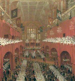 Banquet at the Guildhall to the Prince Regent, the Czar of Russia and the King of Prussia, 18 June 1814 (The Allied Sovereigns Banquet)
