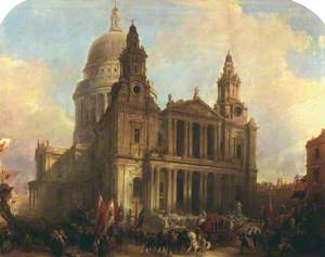 St Paul's Cathedral, London, with the Lord Mayor's Procession