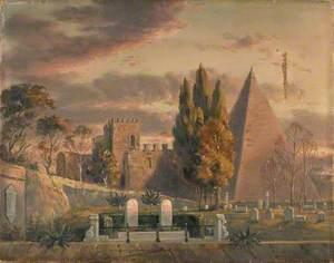 The Graves of John Keats and Joseph Severn, Protestant Cemetery, Rome, Italy
