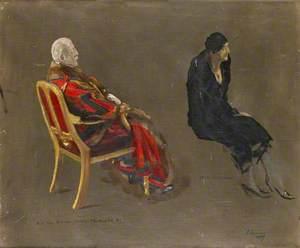 Alderman Sir George Wyatt Truscott (1857–1941), and Mrs Richard Jenkins