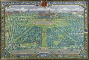Bird's-Eye View of Kensington Palace and Gardens from Above the Serpentine, London