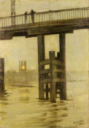 Battersea Bridge, Misty Moonlight