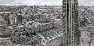 London from Cromwell Tower, Barbican